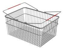 αγορές καλαθιών Στοκ Εικόνα
