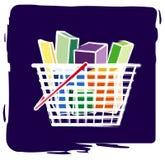 αγορές καλαθιών Διανυσματική απεικόνιση