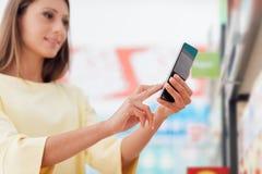 Αγορές κινητό app Στοκ Εικόνα