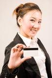 αγορές κοριτσιών καρτών Στοκ εικόνα με δικαίωμα ελεύθερης χρήσης