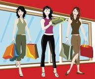 αγορές κοριτσιών Στοκ εικόνα με δικαίωμα ελεύθερης χρήσης