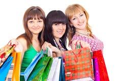 αγορές κοριτσιών στοκ φωτογραφία