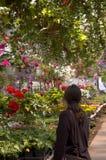 αγορές λουλουδιών Στοκ Εικόνες