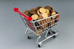 αγορές νομισμάτων κάρρων Στοκ φωτογραφία με δικαίωμα ελεύθερης χρήσης