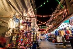 Αγορές νύχτας Στοκ Φωτογραφίες