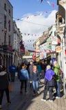 Αγορές οδών αποβαθρών galway Ιρλανδία Στοκ Εικόνα