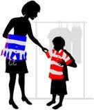 αγορές παιδιών διανυσματική απεικόνιση