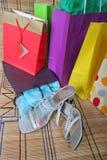 αγορές παπουτσιών δεμάτων Στοκ φωτογραφία με δικαίωμα ελεύθερης χρήσης