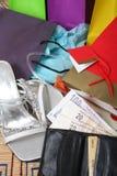αγορές παπουτσιών δεμάτω&n Στοκ Εικόνες