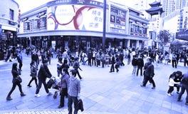 αγορές πληθών της Κίνας στοκ εικόνα με δικαίωμα ελεύθερης χρήσης