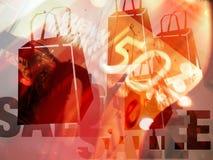 αγορές πώλησης απεικόνισης Στοκ Φωτογραφία