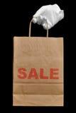 αγορές πώλησης τσαντών Στοκ φωτογραφίες με δικαίωμα ελεύθερης χρήσης