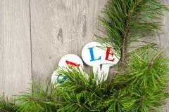 Αγορές πώλησης Χριστουγέννων Κόκκινο σύνολο ελκήθρων των κιβωτίων δώρων Στοκ Εικόνα