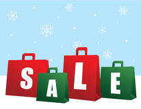αγορές πώλησης Χριστουγέννων τσαντών στοκ εικόνες