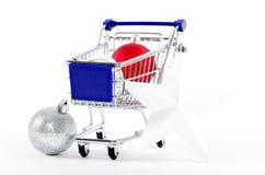 Αγορές στα Χριστούγεννα - αγορές Χριστουγέννων Στοκ φωτογραφία με δικαίωμα ελεύθερης χρήσης
