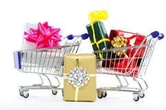 Αγορές στα Χριστούγεννα - αγορές Χριστουγέννων Στοκ εικόνα με δικαίωμα ελεύθερης χρήσης