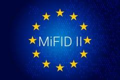 Αγορές στην οικονομική οδηγία οργάνων - MiFID ΙΙ διανυσματική απεικόνιση
