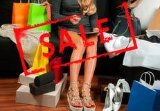 Αγορές τοποθετεί την ψωνίζοντας Πώληση διακοπών Στοκ φωτογραφία με δικαίωμα ελεύθερης χρήσης