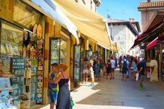 Αγορές του Άγιου Μαρίνου Στοκ εικόνες με δικαίωμα ελεύθερης χρήσης