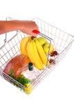 αγορές τροφίμων καλαθιών Στοκ Φωτογραφία