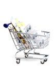 αγορές φαρμάκων καλαθιών Στοκ φωτογραφία με δικαίωμα ελεύθερης χρήσης