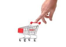 αγορές χεριών κάρρων Στοκ Εικόνες