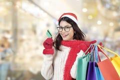 αγορές Χριστουγέννων Πωλήσεις Χριστουγέννων Στοκ φωτογραφία με δικαίωμα ελεύθερης χρήσης