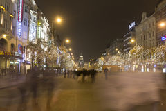 2014 - Αγορές Χριστουγέννων στην πλατεία του Wenceslas, Πράγα Στοκ Φωτογραφίες