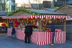 Αγορές Χριστουγέννων στο Λονδίνο Στοκ Εικόνες