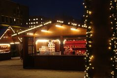 Αγορές Χριστουγέννων στο Όσλο Στοκ Εικόνες