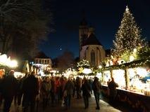 Αγορές Χριστουγέννων της Στουτγάρδης τη νύχτα Χριστούγεννα η διανυσματική έκδοση δέντρων χαρτοφυλακίων μου στοκ φωτογραφία με δικαίωμα ελεύθερης χρήσης