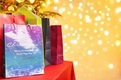 αγορές Χριστουγέννων τσαντών Στοκ Εικόνα
