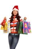 αγορές Χριστουγέννων Στοκ φωτογραφία με δικαίωμα ελεύθερης χρήσης