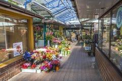 Αγορές arcade στην αγορά Stary Kleparz στην Κρακοβία Στοκ Φωτογραφίες