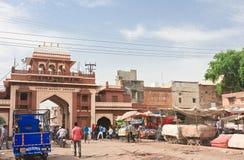 Αγορές arcade στην πόλη του Jodhpur Rajasthan, Ινδία Στοκ φωτογραφία με δικαίωμα ελεύθερης χρήσης