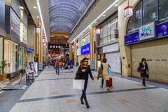 Αγορές Arcade Miyukidori στο Himeji, Ιαπωνία Στοκ εικόνες με δικαίωμα ελεύθερης χρήσης
