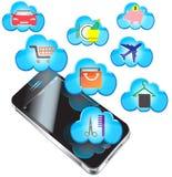 αγορές iphone Στοκ εικόνα με δικαίωμα ελεύθερης χρήσης