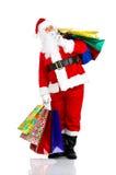 αγορές santa Χριστουγέννων Στοκ Εικόνες