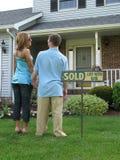 αγορασμένο σπίτι στοκ φωτογραφία
