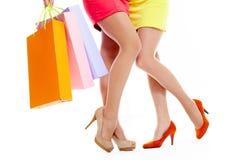 αγοραστές ποδιών στοκ εικόνες