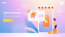 Αγοραστής ηλεκτρονικού εμπορίου Στοιχεία Διαδικτύου Νέα γυναίκα εμβλημάτων που ψωνίζει onlinr r Αλληλεπιδρώντας άνθρωποι ελεύθερη απεικόνιση δικαιώματος