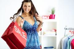 Αγοραστής στη χαρά στοκ εικόνες