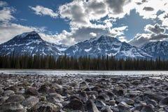 Αγριότητα του ποταμού και του βράχου στοκ εικόνες