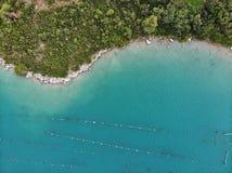 Αγροκτήματα στρειδιών της Κροατίας στοκ εικόνα με δικαίωμα ελεύθερης χρήσης