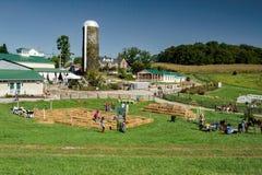 Αγροκτήματα Sinkland άποψης στοκ φωτογραφία με δικαίωμα ελεύθερης χρήσης