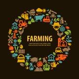 Αγροτικά καθορισμένα εικονίδια σύμβολα σημαδιών Στοκ Εικόνα