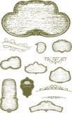 Αγροτικά κενά σημαδιών ξυλογραφιών Στοκ Εικόνες