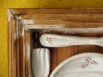 Αγροτικά ξύλινα χειροποίητα αντικείμενα Στοκ φωτογραφία με δικαίωμα ελεύθερης χρήσης