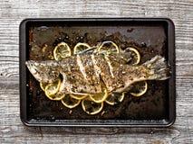 Αγροτικά ψημένα ψάρια Στοκ Εικόνες