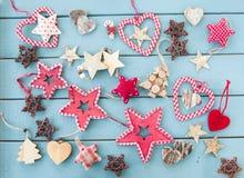 Αγροτικές διακοσμήσεις Χριστουγέννων Στοκ Εικόνα